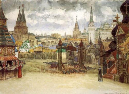 Картина А. Васнецова Стрелецкая Слобода
