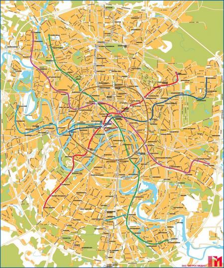 Схема карты москвы с улицами и домами