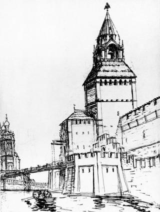 вид Фроловской (Спасской) башни